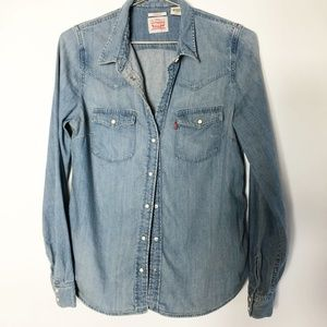 Levi's Light Denim Button Down Shirt